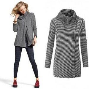 CAbi Fergie overdo Turtleneck Split Front Sweater